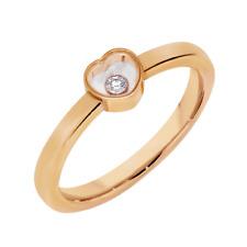 ~NEW~ CHOPARD Happy Diamond Rose Gold Ring sz 53 6