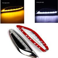 2x Mode Auto LED Blade Weiß DRL + Gelb Blinker Licht Stromlinienförmig Klinge