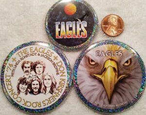 Eagles Band PIN BUTTON LOT Don Kirshner Concert Linda Ronstadt Jackson Browne