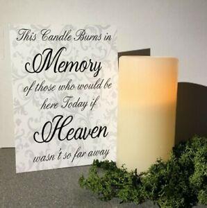 This candle burns in Memory... digital print Artwork. 14cm x 19cm Wedding Venue
