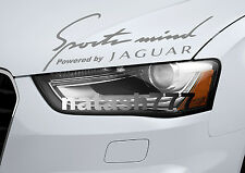 Sports mind Powered by JAGUAR X S Tipe Racing Decal sticker emblem SILVER