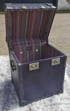Timothy Oulton Trunk Oxford Library Blue Leather Oxford Collection New