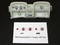 1969 FORD MUSTANG MACH 1 GAUGE FACES for 1/25 scale AMT KITS