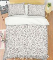 3D Gray Leaf Pattern Quilt Cover Duvet Cover Comforter Cover Single/Queen 36