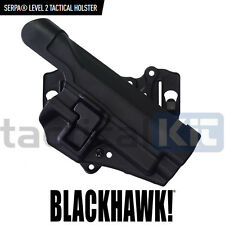 Blackhawk SIG P226 Level II CQC Serpa Holster & Molle Platform Black Right Hand