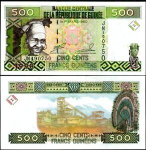 GUINEA 500 FRANCS 1998 P 36 UNC