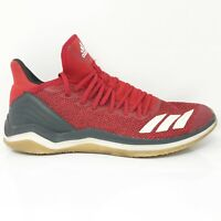 Adidas Mens Icon 4 Trainer CG5272 Red Gray Running Shoes Lace Up Size 12