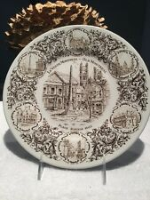 """LE VIEUX MONTREAL-OLD MONTREAL"" COLLECTOR'S PLATE-PLACE ROYAL 1603-WOOD & SONS"