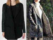 Zara Patternless Hip Length Coats & Jackets for Women