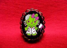 HELLO ZOMBIE KITTY CLEAVER RING ROCKABILLY PSYCHOBILLY GOTH