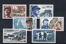 France 6 timbres non oblitérés gomme**  11 Figures historiques militaires