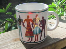 Laurel Burch~The Art of Human Being~Coffee Mug~Made In Tiawan~Vintage~1992