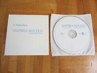 ANDREA BOCELLI feat HELENA L'Abitidine 2001 EUROPEAN collectors CD single