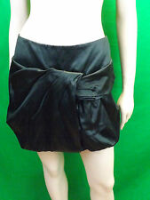 NWT PRADA SILK PLEATED BALLOON BUBBLE PETROLEUM MINI SKIRT 40 6 ITALY $1275