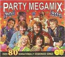 PARTY MEGAMIX 70s, 80s 2 CD SET OVER 80 SEQUENCED SONGS
