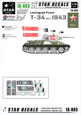 Star Decals 1/16 Decals for T-34 Model 1943 Leningrad on Front Early