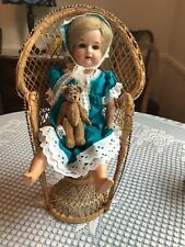armand marseille doll 370.Bisque Shoulder plate doll