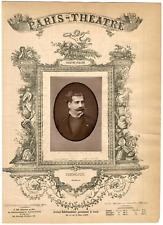 Lemercier, Paris-Théâtre, François Pandolfini, baryton Vintage Albumen Print T
