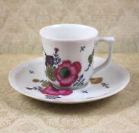 Vintage Limoges Ceralene Anemones Floral Demitasse Cup and Saucer