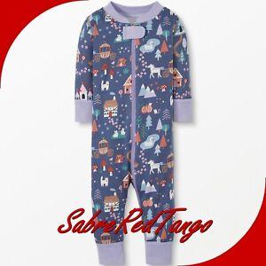 NWT HANNA ANDERSSON ORGANIC BABY SLEEPER ZIPPER HAPPY HAMLET PRINT 70 6-12 M