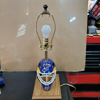St Louis Blues Lamp. No Shade. Great Shape. With Mini Helmet. Tested and works!!