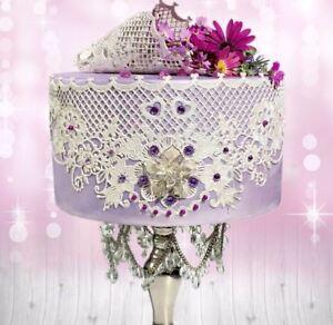 2 x Graceland Ready To Make  Edible Cake Lace..