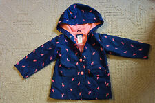 Carter's 4T Cat Fox Lined Rain Coat Jacket Blue