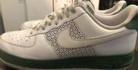 Nike Air Force 1 '07 Mens White W/ Green . Leather Low Shoes Size 12