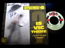 """DEPARTMENT S/IS VIC THERE/POST PUNK/STIFF REC/FRENCH 7"""" SP"""