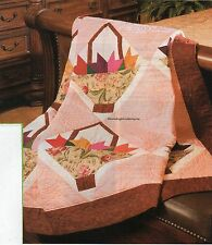 Basket Of Tulips Quilt Pattern Pieced BY