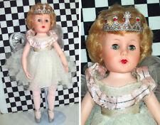 "18""Vintage Ballerina Doll Silver Wings Vinyl Face Hard Plastic Body No Joints LA"