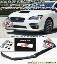 V-Limited Style Front Lip + STi Emblem Fits 15-17 Subaru WRX STi
