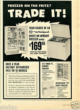 1965 Print Ad of RCA Whirlpool Chest & Upright Freezer