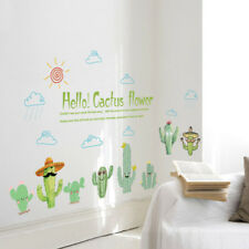 Cactus Pot Plant Removable Wall Sticker Art Vinyl Decal Mural Home Shop Decor
