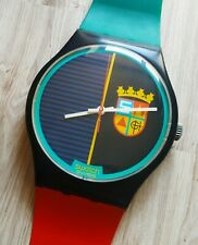 """Maxi Swatch MGB111 """" Sir Swatch """" 1987 Rare Collectable Wall Clock Pop Art"""