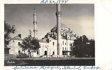 Istanbul Turkey Soliman Mosque Suleymaniye Real Photo Antique Postcard (J25296)