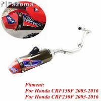 1 Set Full Exhaust Muffler System Slip On Pipe For Honda CRF150F CRF230F 2003-16