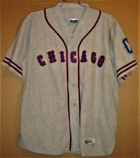 CHICAGO CUBS ERNIE BANKS #14 GRAY BUTTON-DOWN Size XL JERSEY