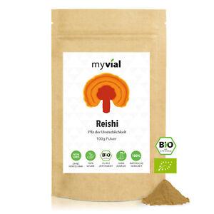 Bio Reishi Pulver 100g   Glänzender Lackporling   100% ganzer Fruchtkörper