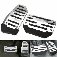 Non-Slip Automatic Gas Brake Foot Pedal Pad Cover Car Accessories 2pc/set Silver