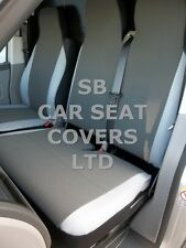 TO FIT A VW CRAFTER VAN SEAT COVERS UK MODEL 154 FABRIC+LEATHERETTE TRIM S+D