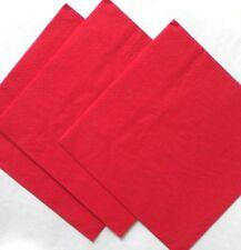 Art de la table de fête serviettes rouge pour la maison toutes occasions