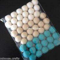 2 cm Wool Handmade White Sand & Turquoise Color Felt Balls Pom Pom DIY Crafts