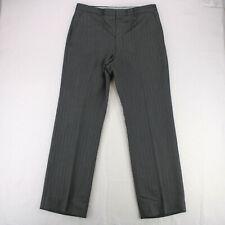 UNBRANDED RETRO Vtg 70s 80s GRAY STRIPED PANTS MEN'S 35 X 32