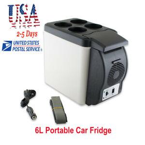 FDA 12V 6L Car Portable Mini Fridge Cooler Warmer Refrigerator Heater Box Travel