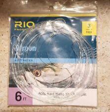 Rio Tarpon Fluorocarbon Shock Tippet Leader - 3 Pack - 6' 80lb