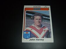 1980 Scanlens Rugby League Card 35 John Harvey - Easts Roosters