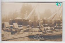 RPPC - Granite Headstone Manufacturing Company Scene - early 1900s