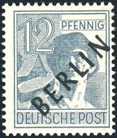 BERLIN, MiNr. 5 x, dickes Papier, tadellos postfrisch, gepr. Schlegel, Mi. 70,-
