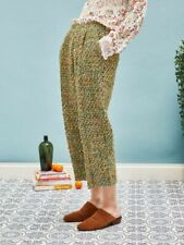 Sister Jane tweed 'mosses' trousers - green